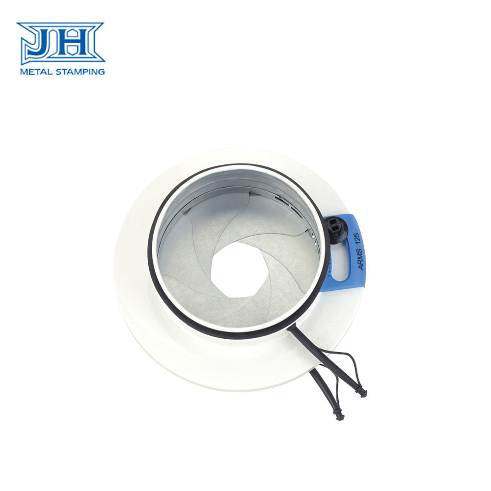 Round Stainless Steel Deep Drawing Parts Galvanized Steel Air Volume Control Damper